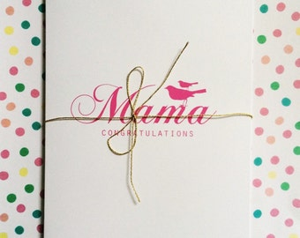 Baby Card - Expecting Card - New bundle of joy - New Baby - Expecting Parents Card
