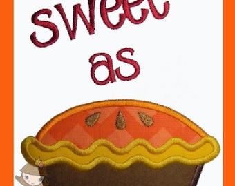 Sweet as Pie Applique design