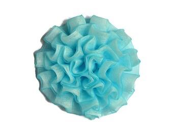 Aqua Cabbage Rose. 1 Flower. ~ Bella Collection