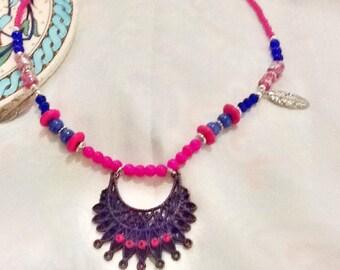 SALE----- SUNSHINE In DESERT - Bohemian style Necklace- Gypsy Necklace