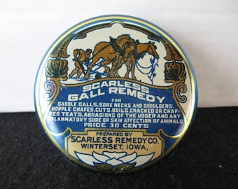 Vintage Scarless Gall Remedy Veterinary Tin