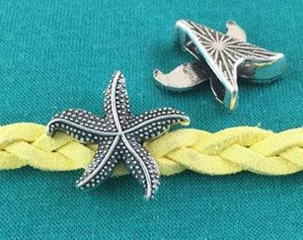20pcs Antique Silver Starfish Charm for Bracelet 19mm