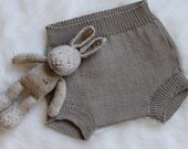 Hand Knitted Vintage Retro Style Bloomers, Nappy, Diaper Cover Made to Order custom Colour choice