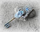 Aurora's Fantasy Key / Key to my Heart Necklace / Wolf Necklace / White Wolves / Winged Wolf / Skeleton Key Necklace / Wolf Dog Hybrid