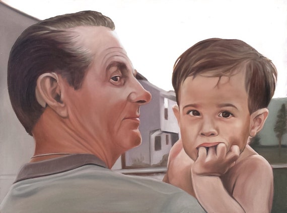 CUSTOM PORTRAIT - Photo to Painting - Oil Painting - Gift for Family