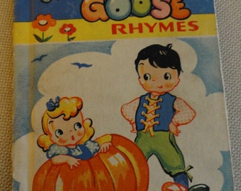 C140)  Vintage 1946 Mother Goose Rhymes  Rand McNally & Co