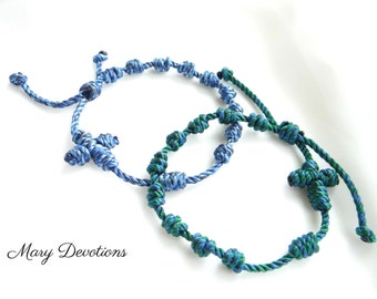 Knotted Rosary Bracelet