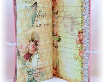 Traveler's Notebook Insert and Dashboard Set, Vintage Romance Design
