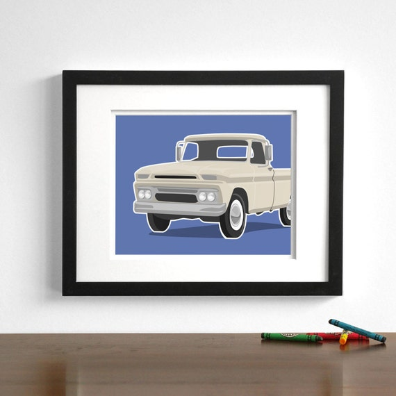 Vintage truck wall art gmc pickup childrens wall art for Signature motors glasgow ky