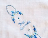 Happy Anniversary Vintage Embroidered Hanky