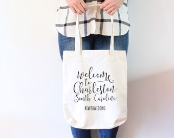 Custom Wedding Tote Bag - Welcome to Our Wedding Tote Bag