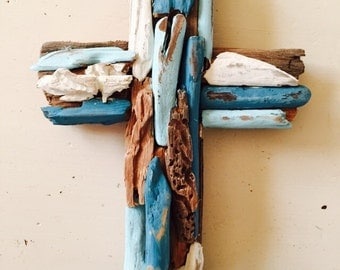 Painted Driftwood Crosses - Made to Order - Easter, Beach House, Beach, Cross, Nautical,  Religious