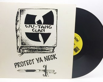 "Wu-Tang Clan: Protect Ya Neck  Vinyl 12"" Single Rap Vinyl Record Vintage"