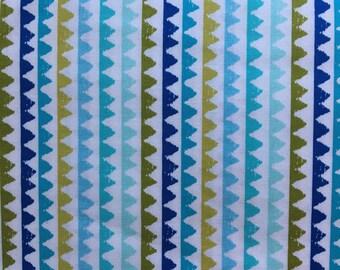 Zig Zag Aqua Print Crib Sheet - 100% cotton