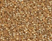 MIYUKI DELICA BEAD, 11/0 Galvanized Yellow Gold, DB0410, 5g, 10g, 15g, 20g Delica Beads DB410