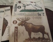Reserved for Melanie. Two Vintage Camper Decals of Animals--So Cool!