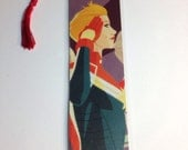 Upcycled Captain Marvel Comic Book Bookmark