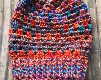 Granny Stitch Slouch Beanie- Fair Fun