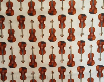 Violin, InTune by Robert Kaufman, Music Fabric, Instrument Fabric, Fiddle, 01035A