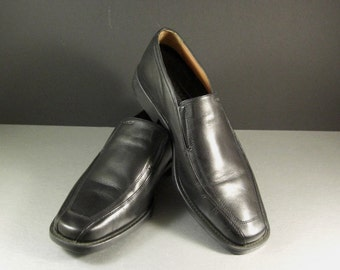 Men's GEOX Black Dress Loafers Shoes Size 9.5 = 43.5 EU