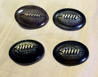C. 1930 College 'Football' Sweater Buttons- 4 pc