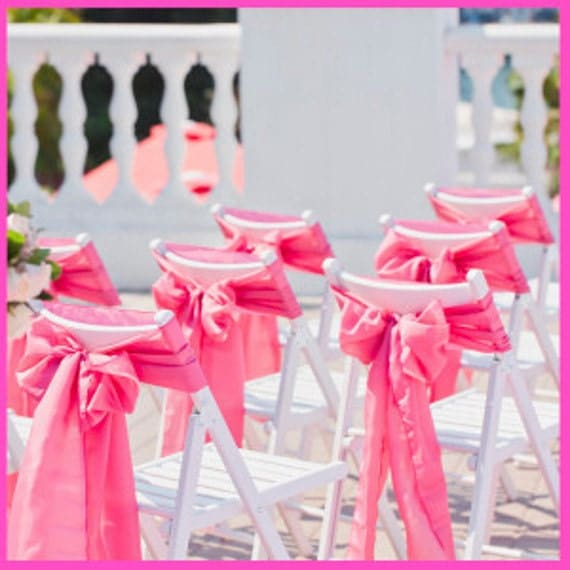 chair sashes gum pink wedding chair sashes chair bows