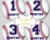 Baby Monthly Stickers Baseball Nursery Baby Month Stickers Baby Boy First Year Stickers…Favorite Baby Shower Gift - B115