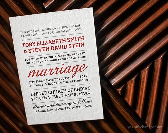 TORY Wedding / Elopement / Engagement Party / Shower / Rehearsal Dinner Invitation