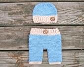 crochet boy pants set  FREE Domestic Shipping