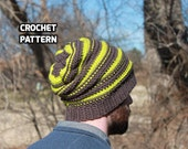 CROCHET PATTERN - Reversible Slouch Beanie (Teenager/Adult Medium, Adult Large, Adult X-Large) - Sell What You Make