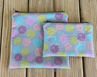 Reusable Bag Combo - Zipper Sandwich Bag and Zipper Snack Bag