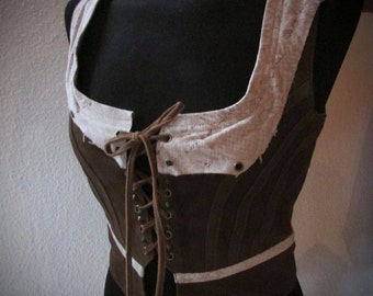 ON SALES!! Leather steampunk  vest  leather steampunk/ burlesque victorian style vest