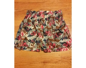 SALE Floral Shorts - Size Small (2 for 15 dollars deal)