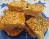 Homemade Butterscotch Rice Krispie Treats - One Dozen Bars