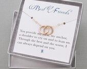 Best Friend Necklace | Infinity Circle Necklace | Friendship Necklace | Infinity Jewelry | BFF Gift | Dainty Necklace | Gold Necklace