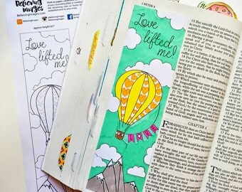 Bible Journaling Bible Verse Art Bible Verse Print great for faith journals Art Journal Hymn Journal Love Lifted Me