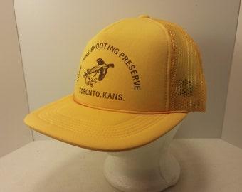 Vintage 1990s Trucker Ball Cap - Lone Pine Shooting Preserve Toronto, Kansas - Hunter, Duck Hunter, Rockabilly, Retro, Accessories, Hunting