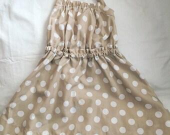 Vintage halter polka dot dress 3t