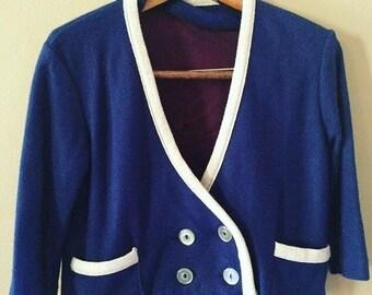 Vintage knit blue blazer set Size 5t