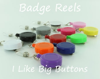 50 Blank Badge Reel/Reels Lanyard ID Retractable Clips (Ships from the USA) Use Fabric Covered Button, Bottle Cap & Much More