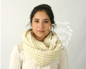 CROCHET PATTERN for Infinity Cowl Scarf Ribbed Pattern The LONDON scarf pattern