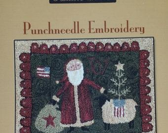 Needlepunch Punchneedle  Embroidery pattern and fabric