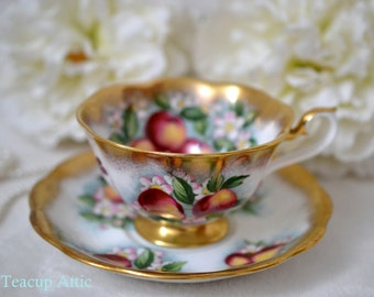 Royal Albert Treasure Chest Series Teacup And Saucer Set, Wedding Gift, Mother's Day, English Teacup, ca. 1970