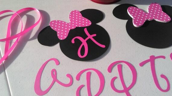 DIY Minnie Mouse Birthday Banner Birthday Decorations DIY