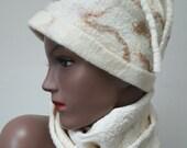 winter hat made with merino soft wool and silk fibers