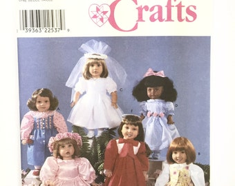 UNCUT Simplicity Crafts 8534 Doll Clothes Pattern Party Dress Choir Robe First Communion Dress Flower Girl