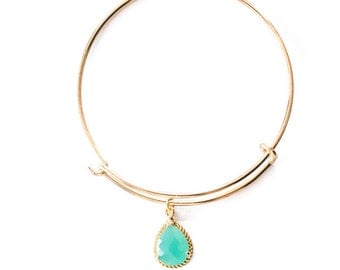 Harper Collection Bangle Bracelet in Aqua