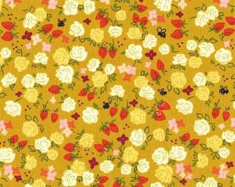 Strawberry Moon - Roseberry in Honey - Sandi Henderson for Michael Miller - DC7308-HONE-D - 1/2 Yard