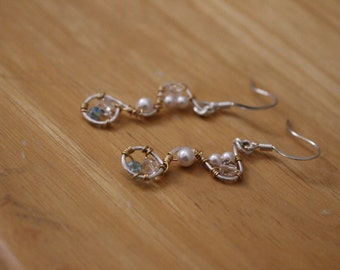 Sterling Silver Bridal Statement Earrings
