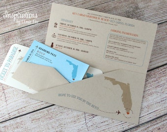 Boarding Pass Wedding Invitations, Destination Wedding Invitations, Boarding Passes